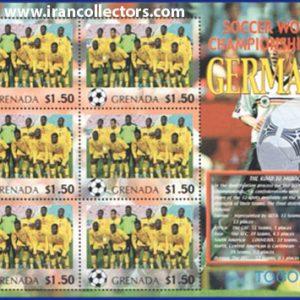 بلوک یادگاری تمبر جام جهانی 2006 آلمان چاپ گرانادا کشور توگو