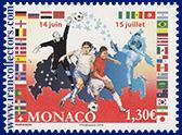 تمبر جام جهانی 2018 روسیه چاپ موناکو با پرچم ایران