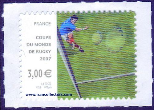 تمبر برچسبی ویژه سه بعدی فرانسه 2007