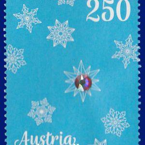 سری تمبر ویژه کریسمس اتریش با کریستال شرکت سوارسکی