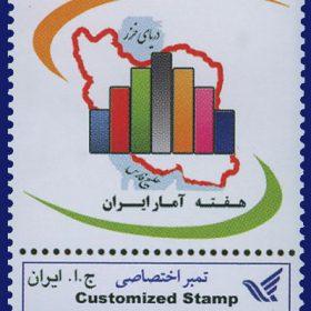 تمبر اختصاصی هفته آمار ایران 1389