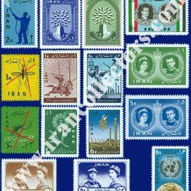 سری کامل تمبرهای یادگاری سال 1339 ایران